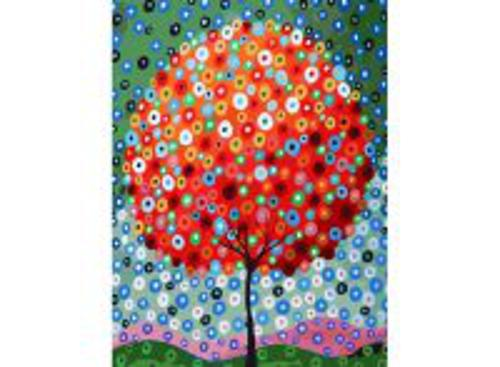 Живопись на холсте. Размер 30*40 см.. Денежное дерево (754-AS )