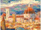 Живопись на холсте. Размер 30*40 см.. Дождь над Флоренцией (034-AS )