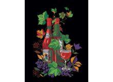 - Картины со стразами. Натюрморт с вином (202-RS ) обложка книги
