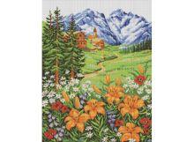 - Мозаичные картины. Альпийский пейзаж (147-ST ) обложка книги