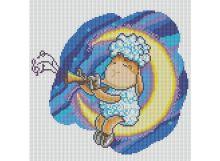 Мозаичные картины. Овечка на Луне (024-ST )