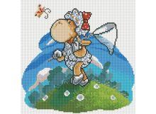 Мозаичные картины. Овечка с сачком (025-ST )