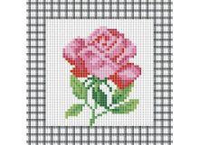 Мозаичные картины. Розовая роза (035-ST )
