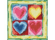 Мозаичные картины. Четыре сердечка (011-ST )