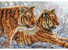 - Наборы для вышивания. Амурские тигры (2333-14 ) обложка книги