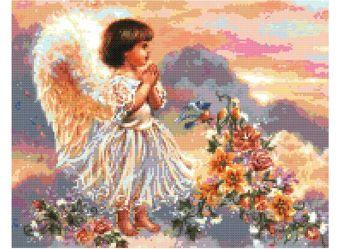 Наборы для вышивания. Ангел с цветами (4004-14 )