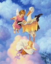 Наборы для вышивания. Ангелочек с аистом (4003-14 )