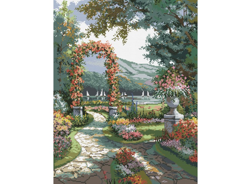 Наборы для вышивания. Арка в саду (4156-14 )