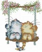 Наборы для вышивания. Влюблённые кошки (407-14 )