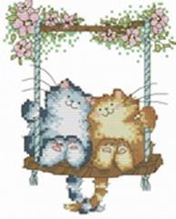 - Наборы для вышивания. Влюблённые кошки (407-14 ) обложка книги