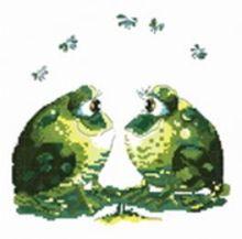 - Наборы для вышивания. Влюблённые лягушки (819-14 ) обложка книги