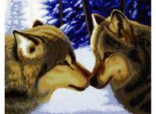 - Наборы для вышивания. Два волка (2862-14 ) обложка книги