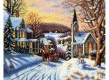 - Наборы для вышивания. Зима в городке (1005-14 ) обложка книги