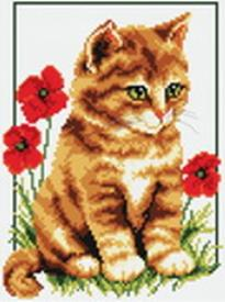 Наборы для вышивания. Котенок в цветах (855-14 )