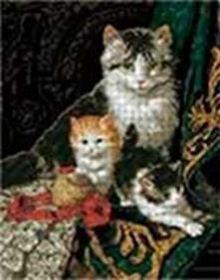 - Наборы для вышивания. Кошачье трио (4072-14 ) обложка книги