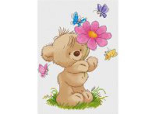 Наборы для вышивания. Мишка с цветком (425-14 )