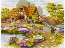 - Наборы для вышивания. Мостик в цветах (1060-14 ) обложка книги