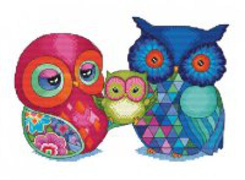 Наборы для вышивания. Радужные совы (950-14 )