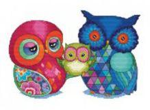 - Наборы для вышивания. Радужные совы (950-14 ) обложка книги