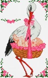 - Наборы для вышивания. С рождением девочки! (933-14 ) обложка книги