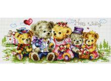 - Наборы для вышивания. Семейка медвежат (1708-14 ) обложка книги