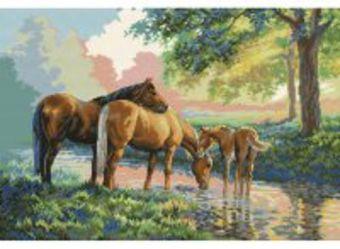 Наборы для вышивания. Скакуны на водопое (4162-14 )