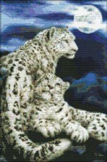 - Наборы для вышивания. Снежные барсы (2446-14 ) обложка книги