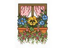 - Наборы для вышивания. Цветочное окно (744-14 ) обложка книги