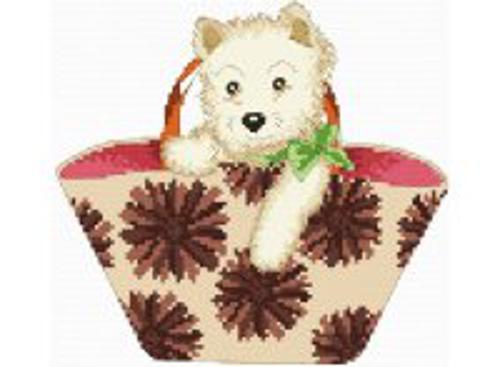 Наборы для вышивания. Щенок в сумке (814-14 )