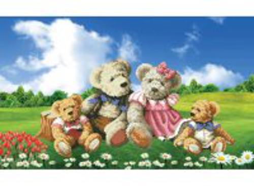 Наборы для вышивания в формате 3D. Семейка медвежат (7068-3D )
