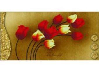 Наборы для вышивания в формате 3D. Тюльпаны на золотом (7042-3D )