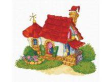 - Наборы для вышивания с водорастворимым рисунком на канве. Домик (7535-РК ) обложка книги