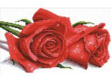 - Наборы для вышивания с водорастворимым рисунком на канве. Красные розы (7530-РК ) обложка книги