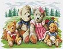 Наборы для вышивания с водорастворимым рисунком на канве. Пикник (7550-РК )