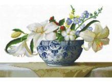 - Наборы для вышивания с водорастворимым рисунком на канве. Цветочная композиция (7525-РК ) обложка книги