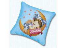 - Наборы для вышивания. Подушка 332 Сладкий сон (канва голубая) обложка книги