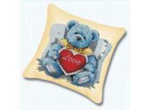 - Наборы для вышивания. Подушка 920 Медвежонок с сердцем (канва бежевая) обложка книги