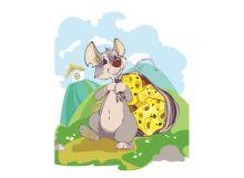 - Живопись на холсте. Размер 30*40 см.. Мышка с сыром (721-AS ) обложка книги