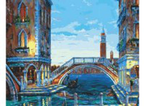 Живопись на холсте.Размер 40*50 см.. Каналы Венеции (624-AB )