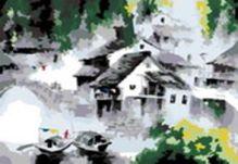 - Живопись на цветном холсте 40*50 . Белый город (055-CG-C) обложка книги