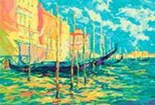 - Живопись на цветном холсте 40*50 . Стоянка гондол. Венеция (897-АВ-C) обложка книги
