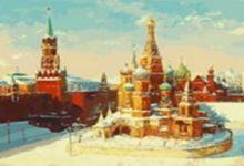 Живопись на цветном холсте 40*50 . Васильевский спуск (919-AB-C)