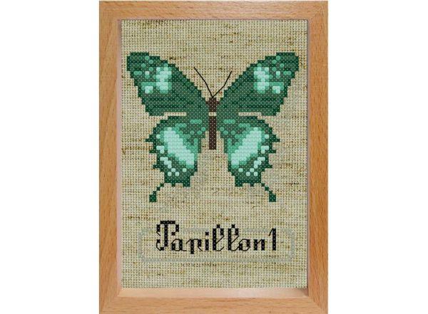 Наборы для вышивания с рамкой. Бабочка (102-EF)