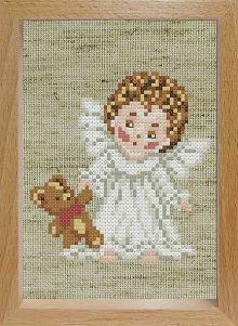 - Наборы для вышивания с рамкой. Ангелочек с мишкой (107-EF) обложка книги