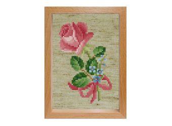 Наборы для вышивания с рамкой. Роза с незабудками (108-EF)