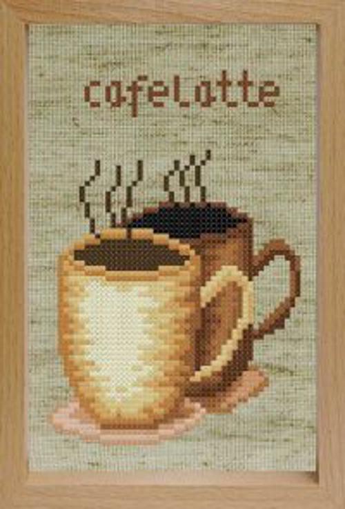 Наборы для вышивания с рамкой. Кофе (202-EF)