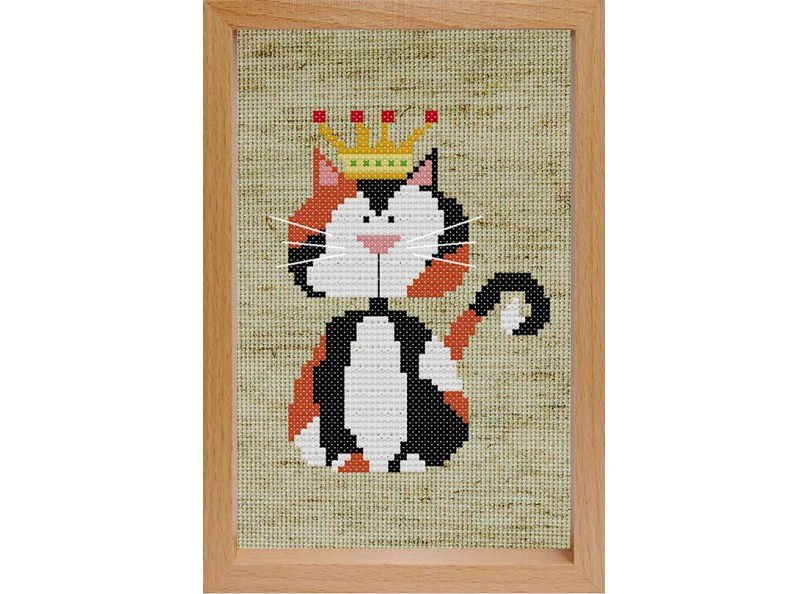 Наборы для вышивания с рамкой. Королевский кот (203-EF)