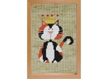 - Наборы для вышивания с рамкой. Королевский кот (203-EF) обложка книги