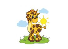 Живопись на холсте 30*40 см. Жирафик (726-AS)