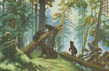 - Мозаичные картины. Утро в сосновом лесу (094-ST) обложка книги